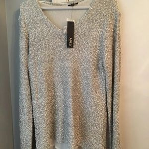 Apt 9 chiffon lines sequined sweater